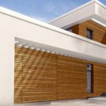 La porte de garage sectionnelle en bois